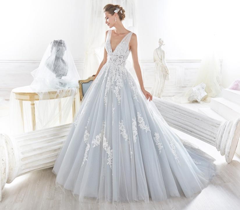 nicole-spose-NIAB18105-Nicole-moda-sposa-2018-blu polvere